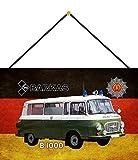 FS Polizei Auto DDR IFA Barkas B1000 Volkspolizei Blechschild Schild gewölbt Metal Sign 20 x 30 cm mit Kordel