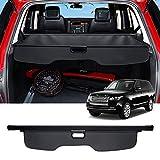 Huadi Range Rover Sport Cubierta de carga retráctil para maletero de seguridad escudo de equipaje para Range Rover Sport paquete de repuesto para estante de maletero (Negro)