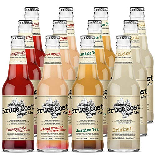 Bruce Cost Ginger Ale Four Flavor, Variety Pack, 12 Fl Oz...