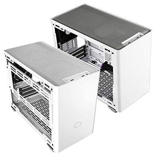Cooler Master NR200 Caja Mini-ITX de Factor de Forma pequeño SFF Blanco con Panel ventilado, GPU de Triple Ranura, sin… 15
