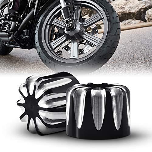 tuincyn schwarz Motorrad Vorderachse Abdeckkappe Mutter Bolt Hardware-Kit Verwendet für Harley XL883 XL1200 x48 Modelle CNC Motorrad Vorne Dekoration Zubehör (1 Set)