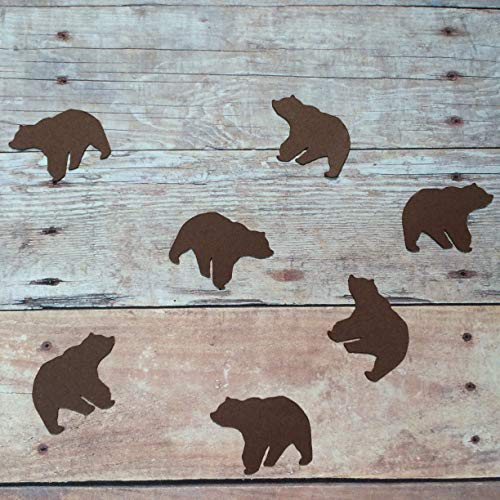 Rustic Party Supplies Bear Confetti Polar Bear Bear Decorations Woodland Theme Bear Cut Out Animal Theme