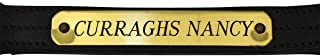 Custom Engraved Nameplate for Halters and Tack - 1 Inch Brass (actual size: 3/4 inch x 4.5 inches)