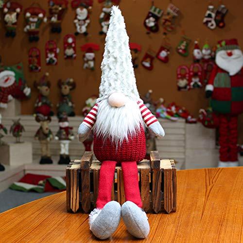 langchao Decoraciones navideñas muñeca muñeca sin Rostro Sentado Postura Ventana Bosque Santa Claus