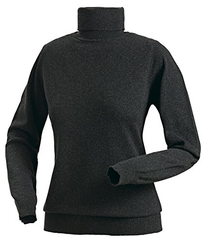 Royal Spencer Damen Rollkragen-Pullover aus Kaschmir-Seide, Kaschmir-Pullover in Anthrazit, kuscheliger Winterpullover, feines Naturprodukt, Gr: S - XL