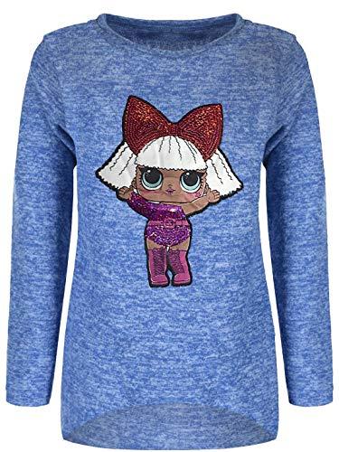 Mädchen Kinder Pullover Sweatshirt Pulli Sweater Langarmshirt 30203 Blau 128