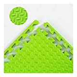 AWSAD Interlocking Foam Floor Mats Foam Puzzle Mat Thicken Sound Absorption Antifouling Home Dorm Room 11 Colors, 1 cm Thick, 60x60 cm, 9 Tiles (Color : Green, Size : 9-Tiles)
