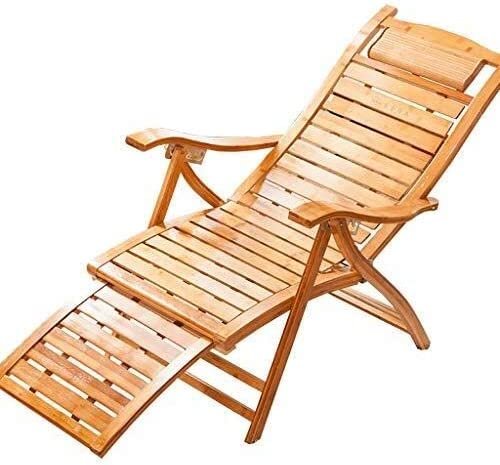 WXF New sales Rocking Chair Surprise price Bamboo Adjustable R Footrest Recliner