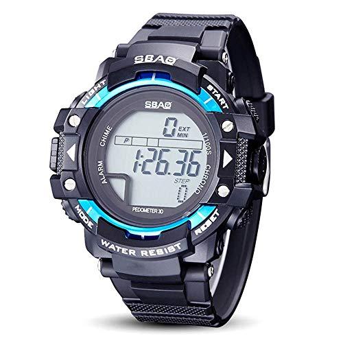 HWCOO SBAO Uhren Elektronische Sport-Schritt-Uhr-Quarz-Paar-wasserdichte Uhr (Color : 3)