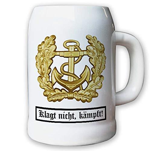 Krug/Bierkrug 0,5l - Barettabezeichen Marine Anker Bundeswehr BW #11820
