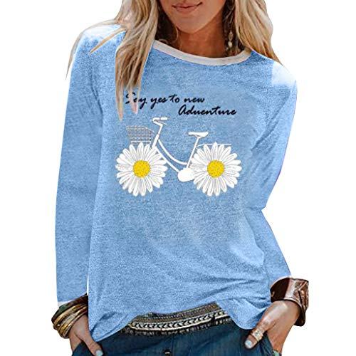 Femme Vetement Chic Mode ete Haut Femme Grande Taille Top Femme Soiree t-Shirt Femme Pas Cher Manche Longue Pull Femme Hiver élégant Chemise Blouse Fille Fashion Printemps Fleur