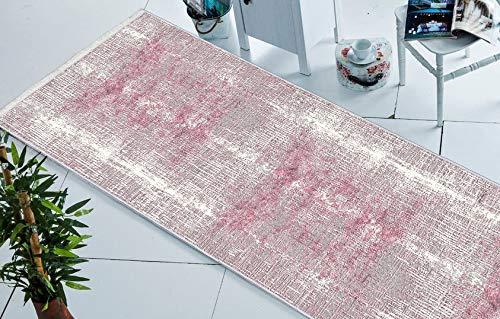 Chilai Home Läufer für Schlafzimmer, Esszimmer, Flur und Kinderzimmer | Design Bambu | Moderner Teppiche | Größe 75x150 cm (Bambu 1042)