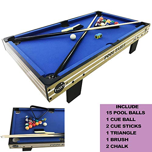 Tabletop Billiards&Pool Games Set, Haxton Billiards Game Mini36 Inches Travel-Size Billiard Table,...