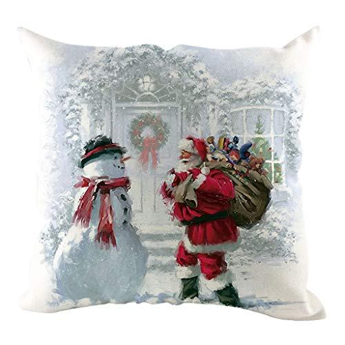 Longra Federa Cuscino Natale Babbo Natale Decorazioni Vintage Cuscini Natalizi Federa Cuscino Divano Federa Natalizia Copricuscini Divano Natale Decorazioni Casa Interno