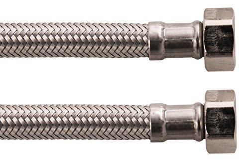 Sanitop-Wingenroth 19382 5 Armaturenschlauch für den Anschluss eines Wasserhahnes | Überwurf 3/8 1/2 Zoll x 300 mm | Flexschlauch | Verbindungsschlauch | Anschlussschlauch Armatur