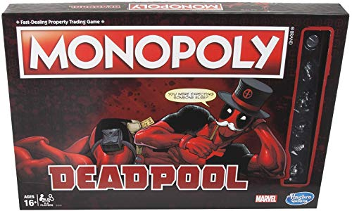 Deadpool monopoly board game gift idea