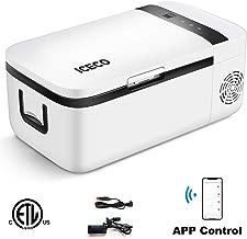ICECO Portable Refrigerator, Car Fridge Freezer with APP Control, 12V Cooler with Danfoss Compressor, Touch Screen, DC 12/24 V, AC 110-240V, 0℉ to 50℉, for Car & Home Use (14 Quart)