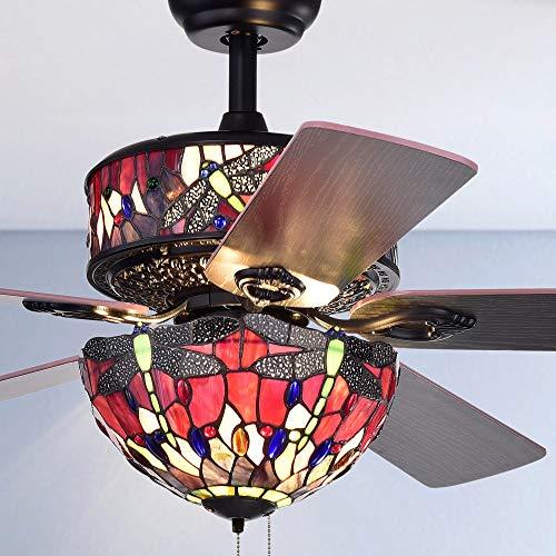 6-Light Dragonfly Design Tiffany Glass