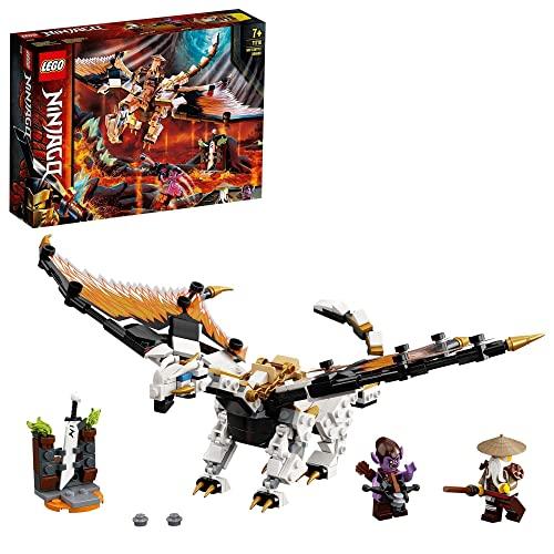 LEGO 71718 NINJAGO Dragón de Batalla de Wu, Juguete de Construcción con Mini Figuras de Maestro Wu y Gleck