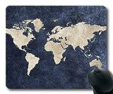 Yanteng Alfombrilla de ratón de Mapa de Novedad, Escritorio del Mundo Alfombrilla de ratón de Mapa de YT 011