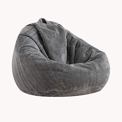 XGGYO Bean Bag Cover Silla Hi-Rest, Puff de Pera para Niños y Adultos, Puff Sofá para el Hogar o el Jardín, Solo Funda/gris / 80×110cm