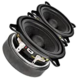 Pair Faital Pro 3FE25 3' Midrange Full-Range Woofer Speaker 4 ohm 40W 91dB