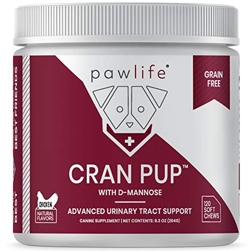 pawlife Cran Pup with D Mannose, Cranberry Supplement for Urinary Tract Health of Dogs, 120 Chicken Treats