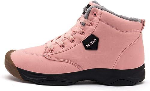 DSX Chaussures de Randonnée Unisexe Chaussures de Randonnée paniers pour Hommes Chaussures de Randonnée à Lacets, Rose, 8.5UK