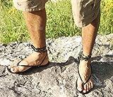 CHASQUI Men - Barefoot leather flat sandals/flexible men sandals/minimalist pocket men sandals