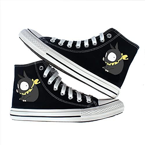 Vngbds Zapatos de Lona Ranma Nibun-no-Ichi Zapatos de Anime Zapatillas Altas Zapatillas de Suela de Goma for Estudiantes Casuales con Cordones Zapatos Planos para Estudiantes Adultos