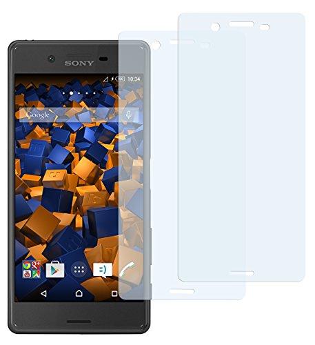 mumbi Schutzfolie kompatibel mit Sony Xperia X Folie, Xperia X Performance Folie klar, Displayschutzfolie (2x)