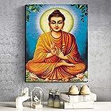 YuanMinglu Sakyamuni Lienzo Mural Poster Print Moderno Mural Imagen Sala decoración del hogar Pintura sin Marco 60x75cm