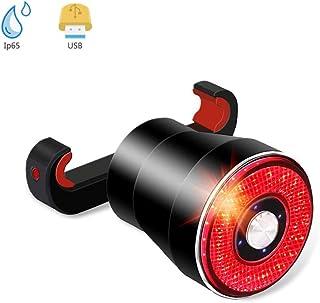 XIAOKOA Luz Trasera de Bicicleta,Luz Trasera de Freno Inteligente,Luz Trasera LED Resistente al Agua,Luz Trasera de Carga USB,Inducción Inteligente