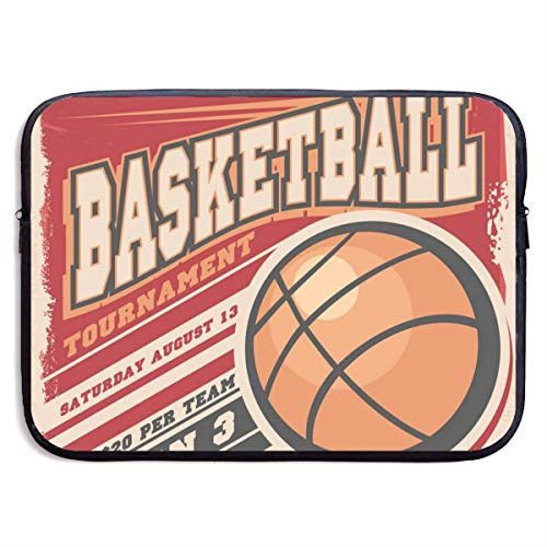 Basketball (2) Laptop Sleeve Bag Case,Waterproof and Foldable Laptop Briefcase Neoprene Soft Carring Tablet Travel Case,13 inch