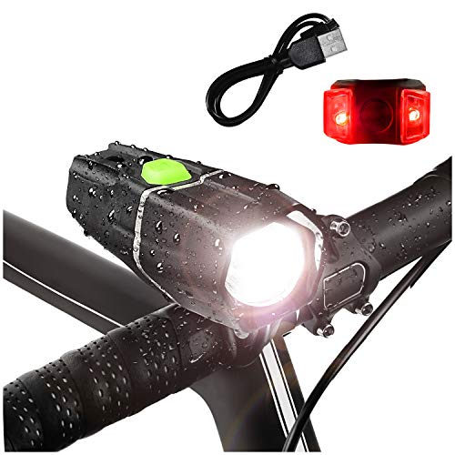 Bright Eyes Ember 400 LUMENS, Lasts Over 4+ Hours on HIGH Beam - w/GoPro Compatible mounts (2 Options) - USB Rechargeable Waterproof LED Bike Headlight with Free Tail Light - Super Bright