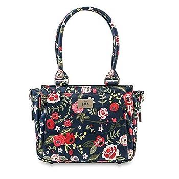 JuJuBe Limited Edition Be Sassy Structured Handbag Diaper Bag Midnight Posy