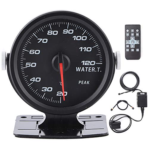 Wassertemperaturanzeige, 60 mm Universalauto Wassertemperaturanzeige Hochempfindliches buntes Auto OBD2 Mechanisches Instrument für Wassertemperaturanzeige
