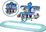 Robocar Poli - Circuit de Voiture - Quartier Général A Fonction - Inclus Figurine Julie + Circuit - Jouet Maternelle