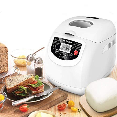 Máquina de hacer pan estantería de acero inoxidable automático multifuncional máquina de pan con 16 colores Programas 3 Crust 15 Horas Tiempo de Retardo de 1 hora Mantener Caliente batidora RVTYR