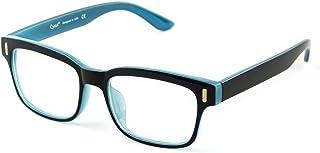 Cyxus Blue Light Blocking Computer Glasses for Anti Eye Strain UV Transparent Lens Black Frame Reading Glass Unisex (Men/Women) (8084T54, Blue Black)