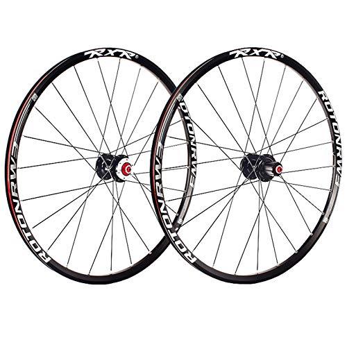 ZCXBHD 26 Pulgadas Bicicleta Montaña Delantero+Trasero Juego De Ruedas Buje Aluminio Freno De Disco Pared Doble MTB Rueda 5 Palin 7 8 9 10 11 Velocidad Casete