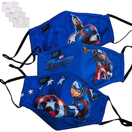 GUSTO Mascarilla Protectora Lavable y Reutilizable para Niños (Superheroes)