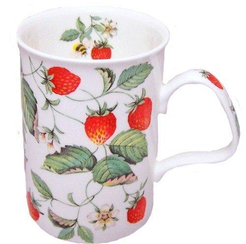 Roy Kirkham Strawberries Fine Bone China Lancaster Mug by Roy Kirkham