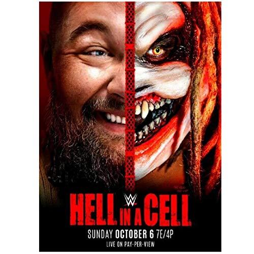 Wxueh Hell In A Cell 2019 Wrestling Event Arte De La Pared Posters E Impresiones Lienzo Cuadros De Pintura Impresos Para La Decoración Del Hogar -60X80Cmx1Pcs-Sin Marco