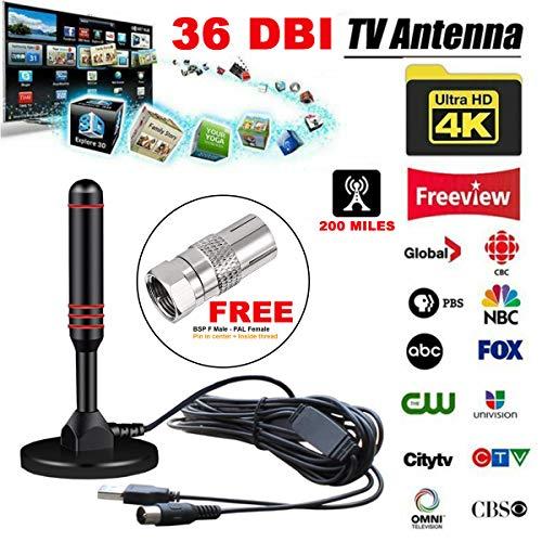 Sale!! HDTV Antenna, Huktec Amplified Digital HDTV Antenna 240 Miles Double Amplified TV Antenna wit...