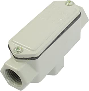 Aexit Metal Case Audio & Video Accessories 3 Hub T Shape Explosion-Proof Conduit Outlet Connectors & Adapters Box G1/2