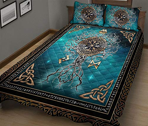 GANTEE Celtic Tree of Life - Quilt QBS - Bedding Sets Queen with Cover Duvet Cover Set Full Size