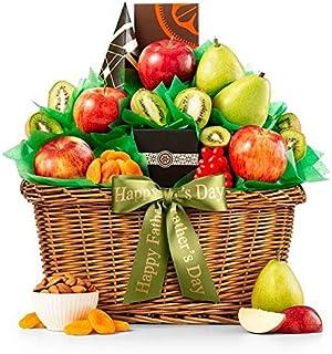 GiftTreeFive Star Premium GradeFruit Father's Day Basket | Includes Pears, Apples, Kiwis | Enjoy Almond Roca, Honey Roasted Peanuts, Popcorn & More