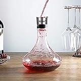 BEYIMEI Wein Dekanter Belüfter, Dekantierer mit Ausgießer Deckel, Mundgeblasenem Weinkaraffe aus Kristallglas für Rotwein, Einzigartige Weingeschenke (1700ml) - 7