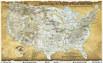 Map of Discovering the legacy of Lewis and Clark : bicentennial commemoration 2003-2006 Northwestern States|Clark National Historic Trail|Lewis|Northwestern States|Lewis and Clark Expedition|Lewis and